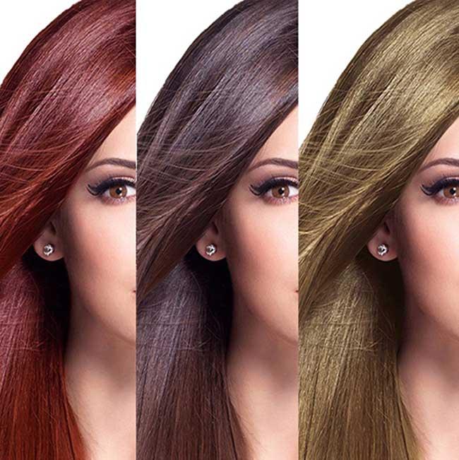 انواع رنگساژ مو