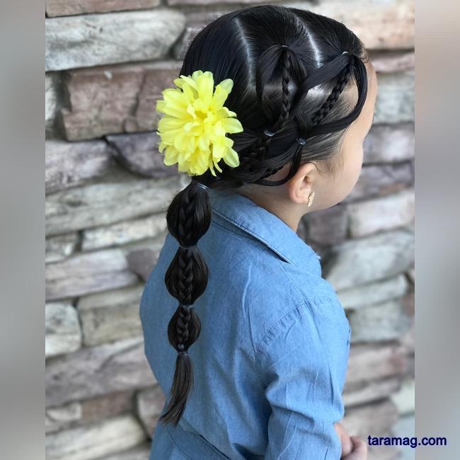 تصویر مدل بافت مو بچگانه دخترانه ۲۰۲۰ – ۹۹  | جدیدترین مدل مو بچه گانه دختر برای مجالس