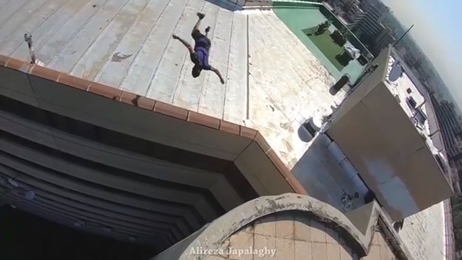 ویدیوی طلوع تهران در پل صدر