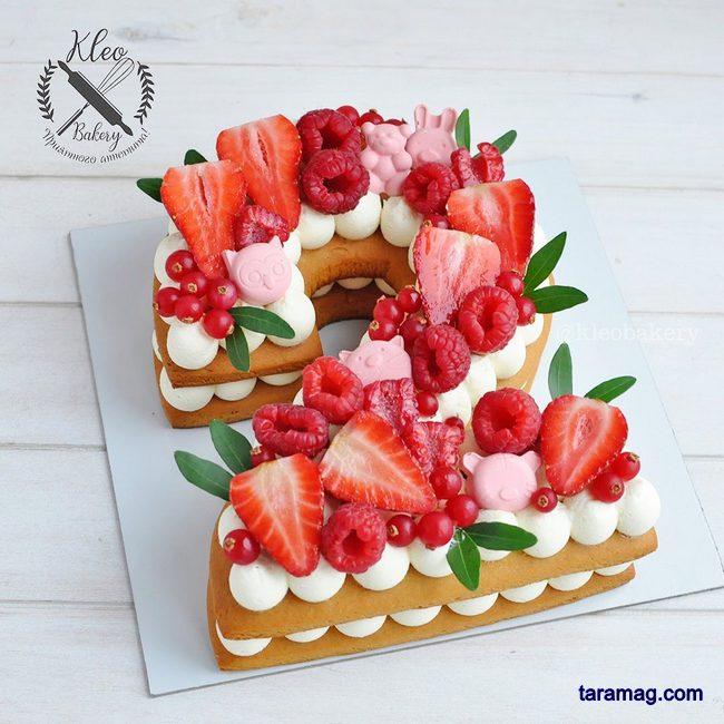 انواع کیک تولد سابله