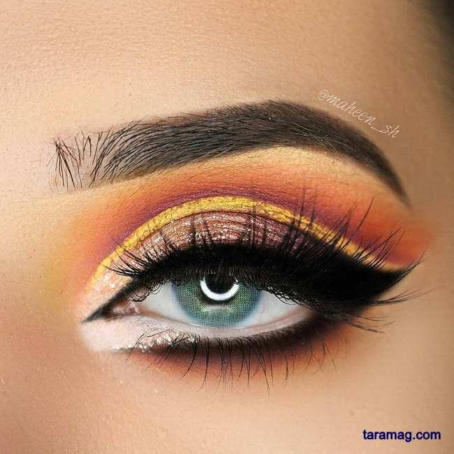 تصویر سایه چشم دخترانه مجلسی ۲۰۲۰ | مدلهای زیبا از آرایش چشم برای مجالس و عروسی