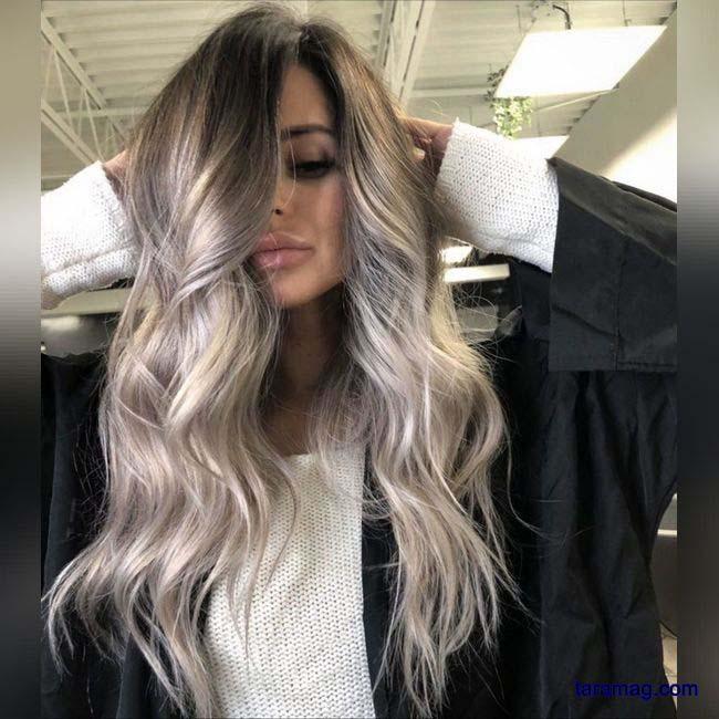 تصویر مدل رنگ موی جدید ۱۴۰۰   رنگ موی جدید و زیبای زنانه ترکیبی