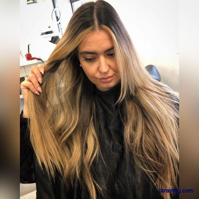 رنگ و مش جدید 2021   رنگ موی بسیار شیک برای موهای بلند