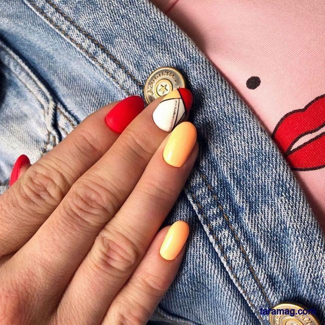 طراحی ناخن جدید دخترانه