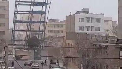 فرو ریختن اسکلت ساختمان بلوار امامت مشهد